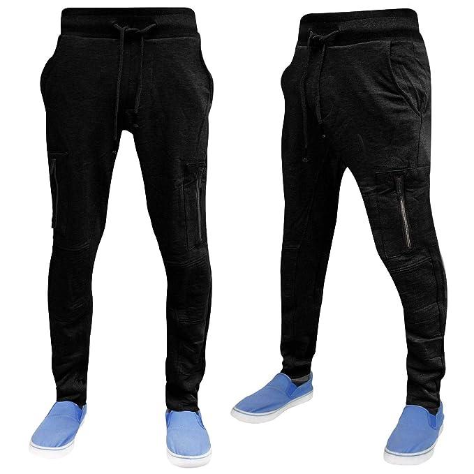 Mens Skinny Slim Sweatpants Joggers Stripe leg loungewear Cuffed bottom by AD