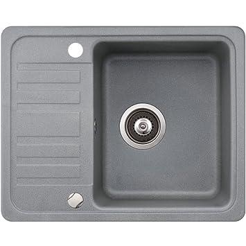 Spüle Granit Verbundspüle Küchenspüle Einbauspüle Auflage 575 x 460 ...