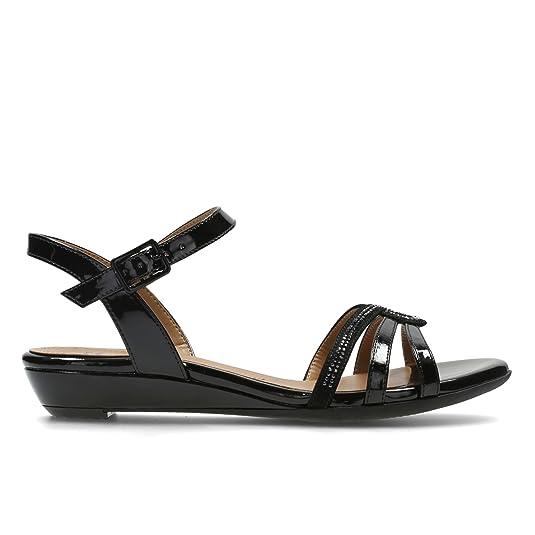 Clarks Women's Bianca Crown Leather Fashion Sandals Fashion Sandals at amazon