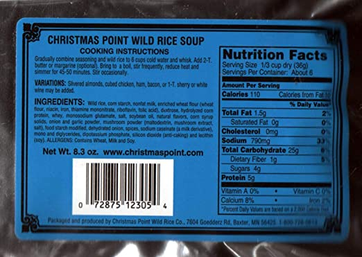 Christmas Point Baxter.Christmas Point Cream Of Mushroom Wild Rice Soup Mix