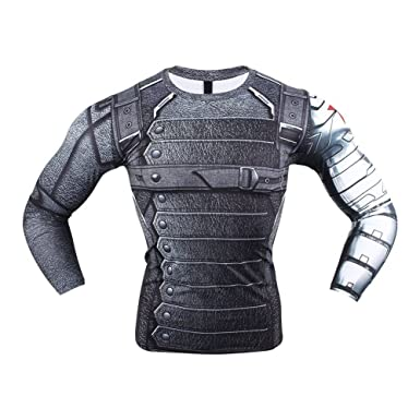 Samanthajane Clothing Born2ridetm Superhero Déguisement Gym Cyclisme à Manches  Courtes T-Shirt de Compression pour Tops - Gris - Large  Amazon.fr   Vêtements ... 46e92f72862