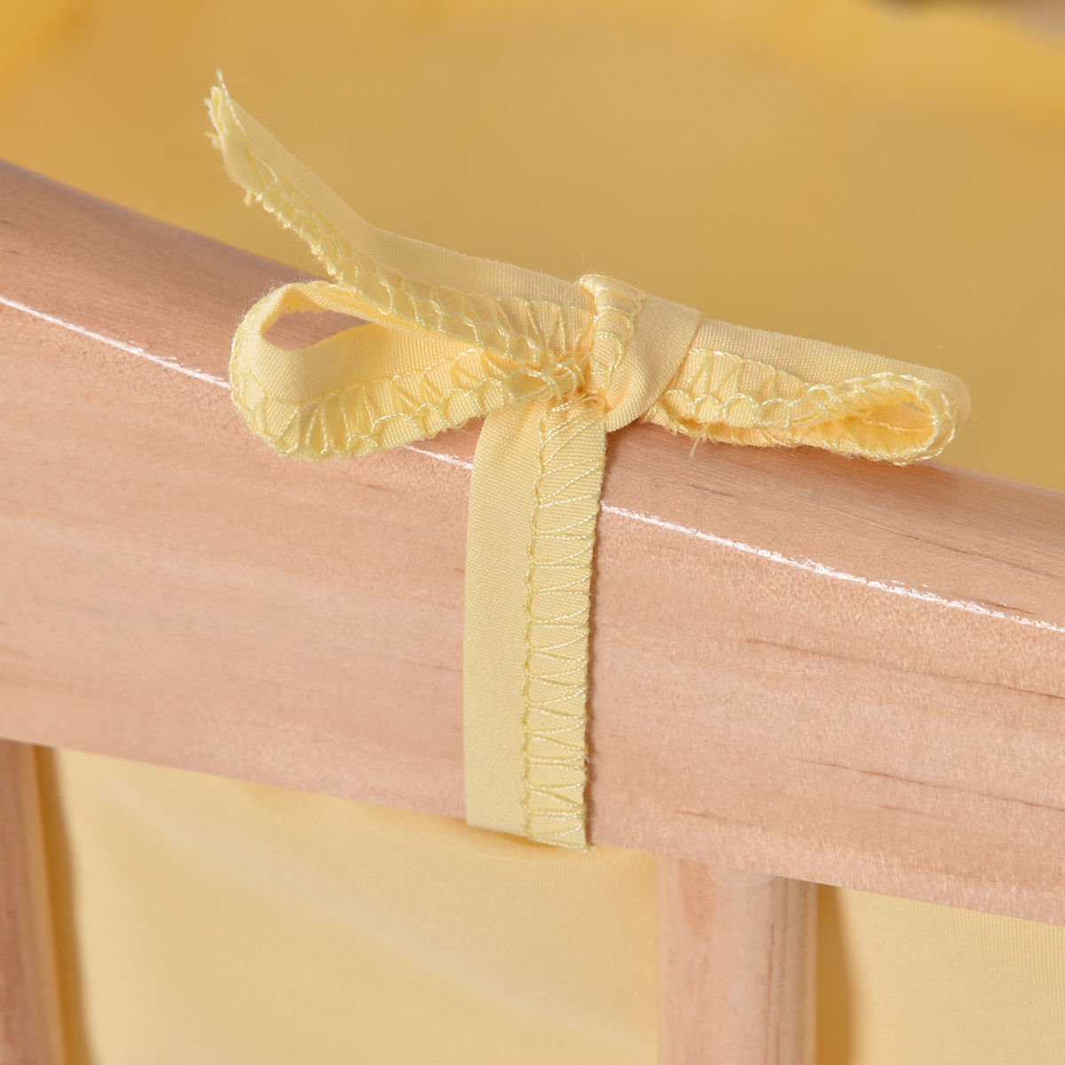 SKEMiDEX---Wood Baby Cradle Rocking Crib Bassinet Bed Sleeper Born Portable Nursery Yellow This Wooden Baby Cradle comes complete with everything your baby needs for sleep by SKEMiDEX (Image #7)
