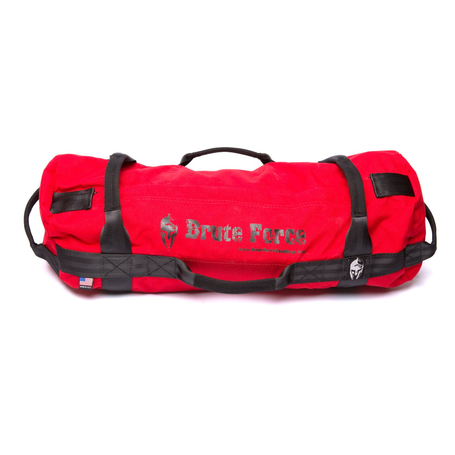 Brute Force Sandbags - Athlete Sandbag - Red - Super Sandbag Heavy Duty Trining Weight Bag Core Athletic Sandbag Workout System 8 Handle Sandbag