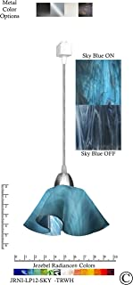 product image for Jezebel Radiance JRNI-LP12-SKY-TRNI Nickel Lily Track Light, Small, Sky Blue