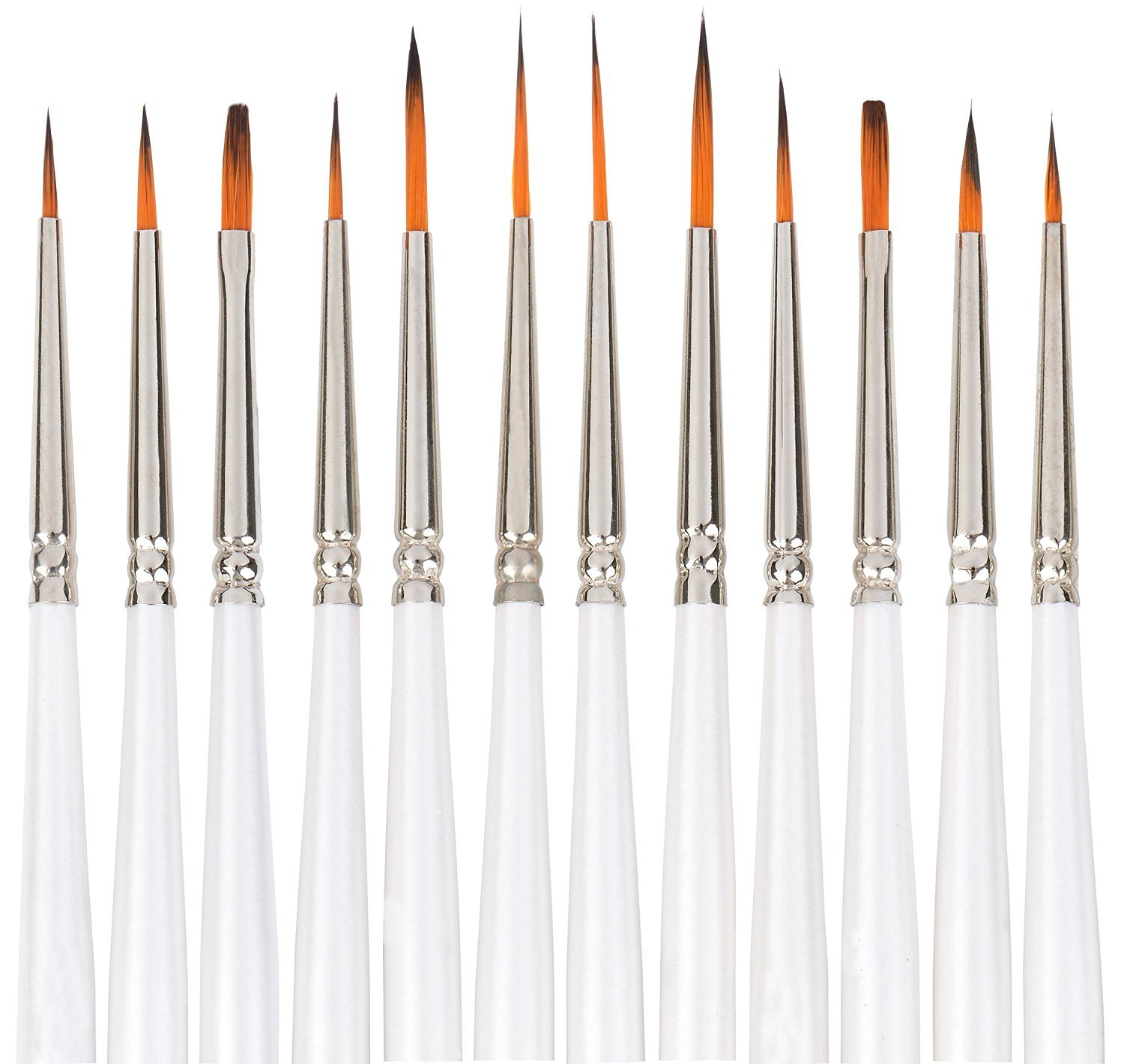 Painting Brushes, Dowswin Watercolor Brushes 12 Pcs Miniature Detail Paint Brushes for Watercolor & Acrylic Painting