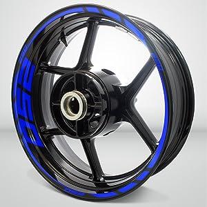 Gloss Blue Motorcycle Rim Wheel Decal Accessory Sticker for Kawasaki Ninja 250