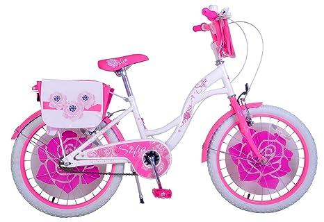 Mediawave Store Bicicletta Bambina Misura 20 Sofia Telaio Acciaio A Sfera Età 6 10 Anni