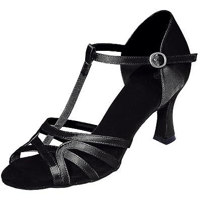 Elobaby Damen Tanzschuhe/High Heels/Samba/Modern/Jazz Peep Toes Sandalen/7.5cm Absatz