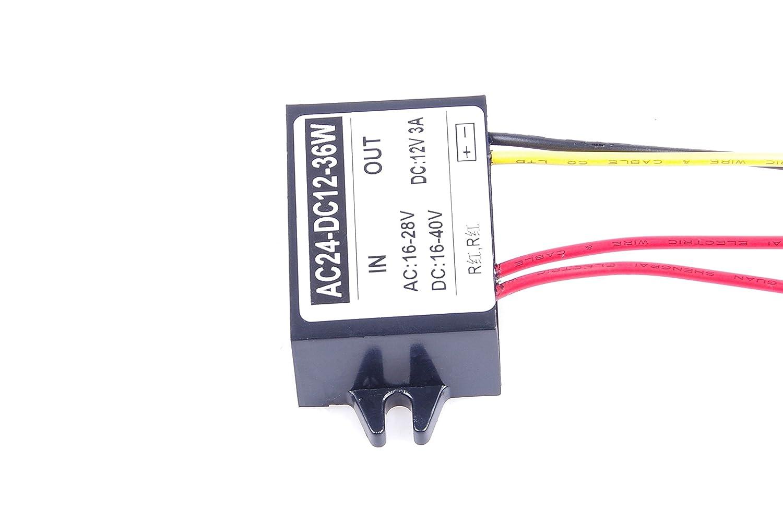 Knacro Ac Dc To Converter 16 28v 20 40v 24v 12v With Lm2585 36v Step Down 12v3a 3a 36w Power Supply Module Home Audio Theater