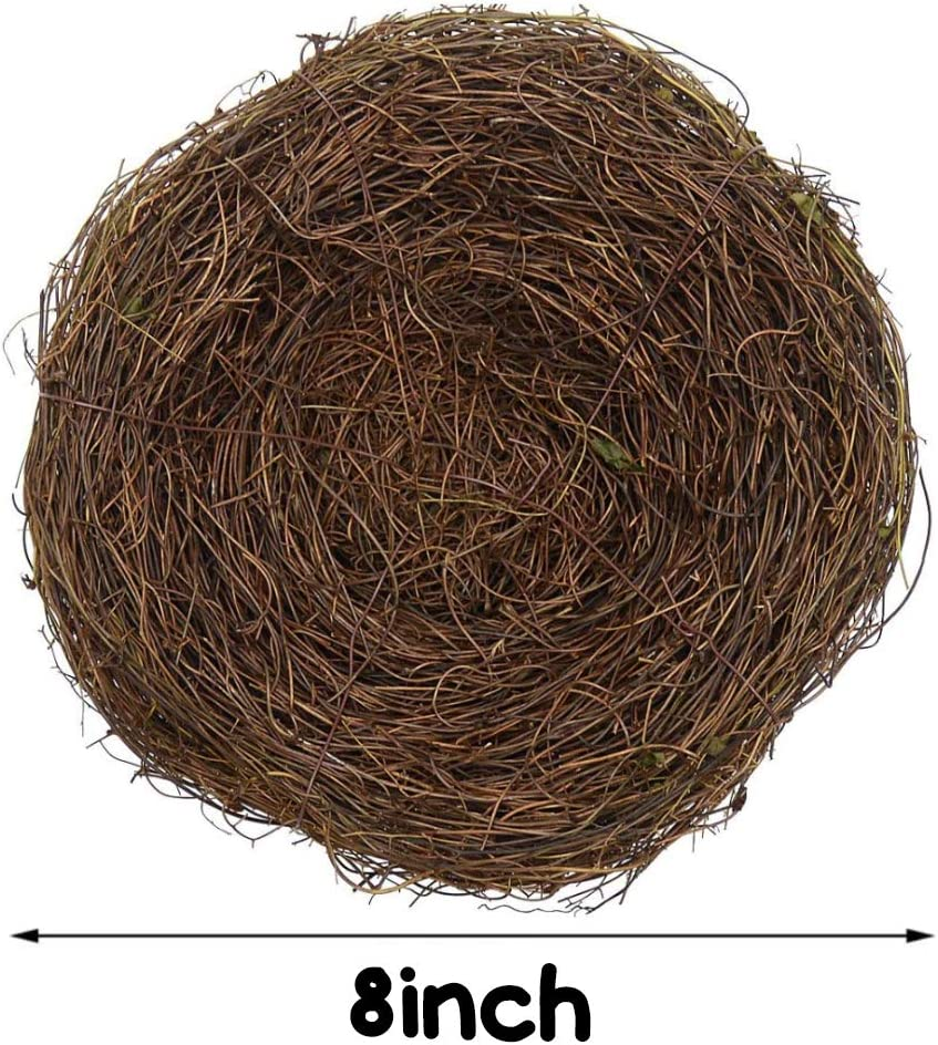 N //C Easter Rattan Bird Nest Easter Party Decorations Multiple Sizes Family Party Supplies