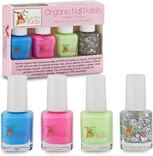 product image for Karma Kids Nail Polish Box Set No. 1 Natural Safe Nail Polish for Little Girls - Non-Toxic, Vegan, and Cruelty Free – Quick Dry Kids Friendly