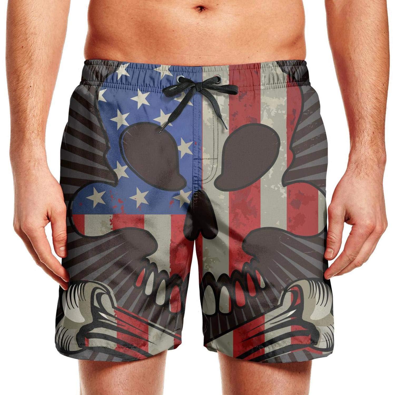 MoirlayC Face Skull Sunglasses USA flagINGEAR Little Boys Shorts volleyballLining