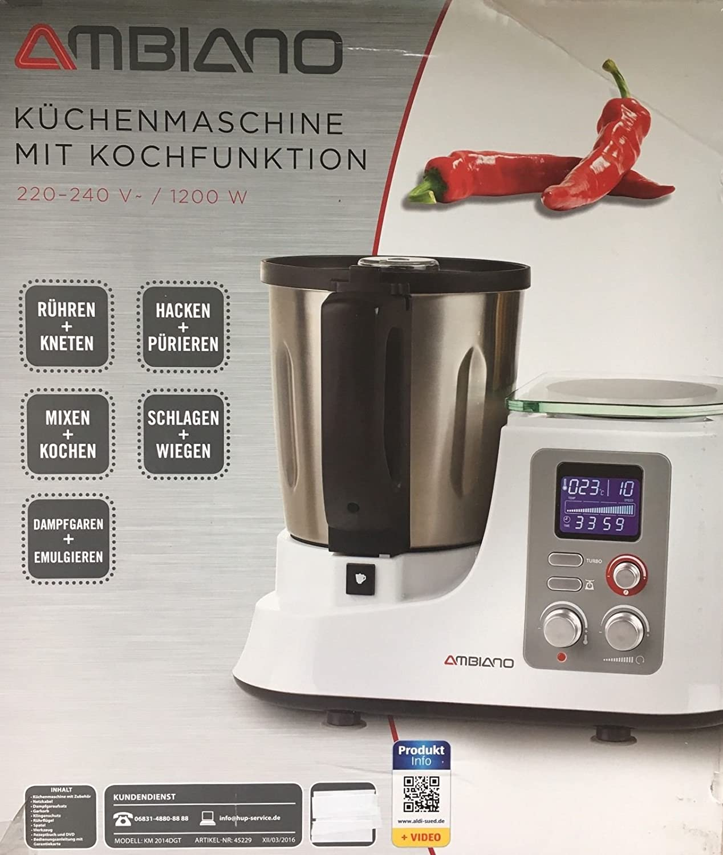 Aldi Süd Robot de cocina con función de cocción plata: Amazon.es: Hogar