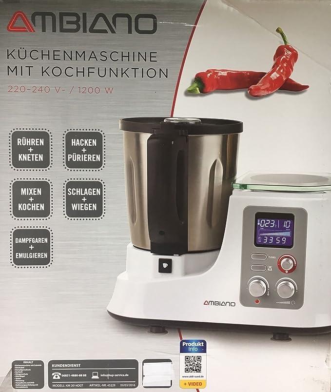 Amazon.de: Aldi Süd Küchenmaschine mit Kochfunktion (silber)