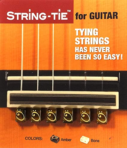 String-Tie para Guitarra Clásica (Marrón): Amazon.es: Instrumentos ...
