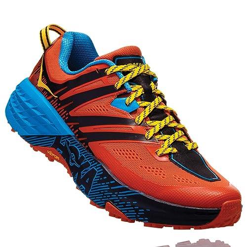 Hoka One - Zapatillas para Correr en montaña de sintético, Tela para Hombre Naranja Nasturtium Spicy Orange: Amazon.es: Zapatos y complementos