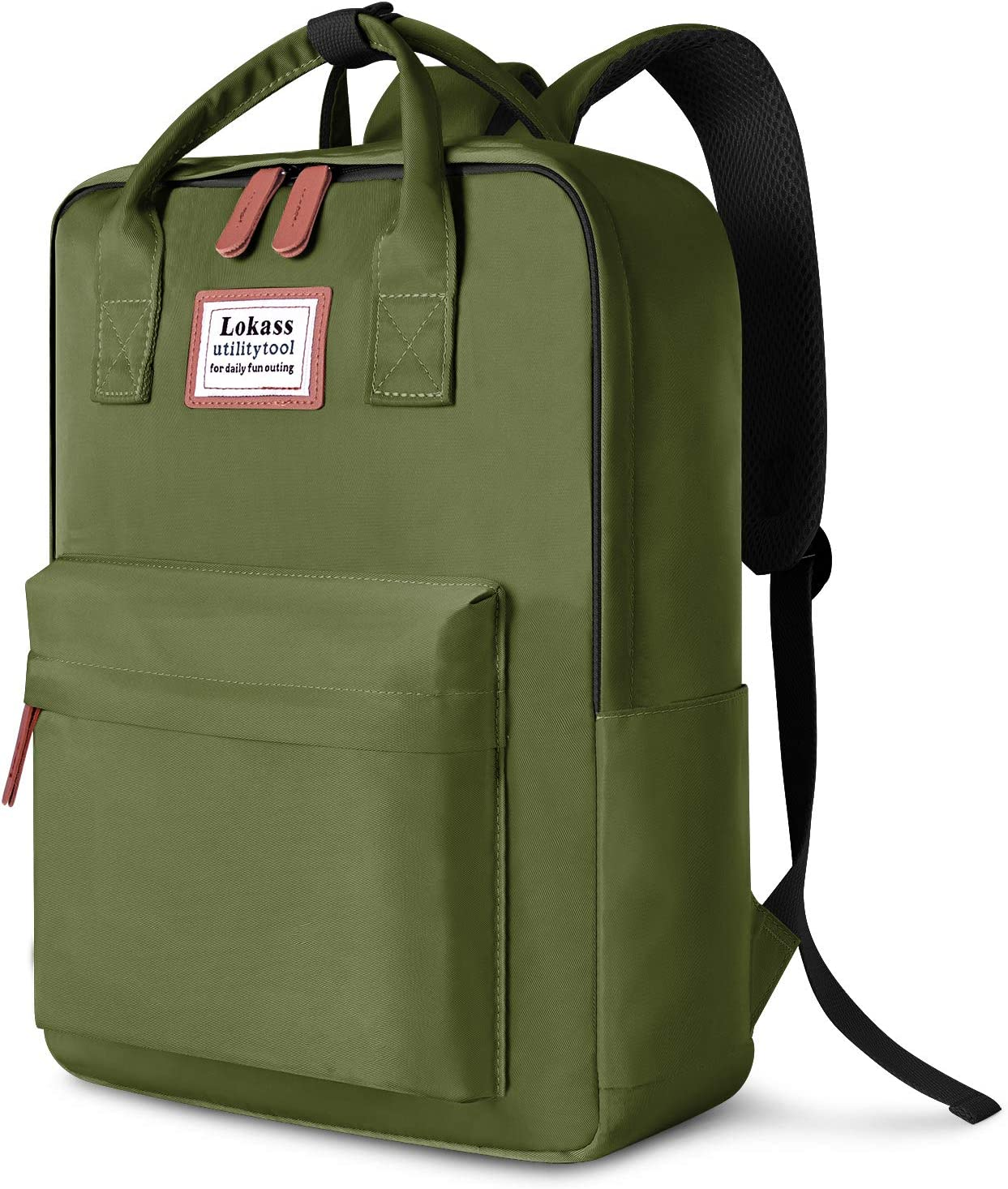 SOCKO Laptop Backpack for Women Men Stylish College Backpack School Bag Lightweight Bookbag Travel Work Carry On Backpack Casual Daypack Rucksack Computer Bag Fits up to 15.6 Inch Laptop, Green