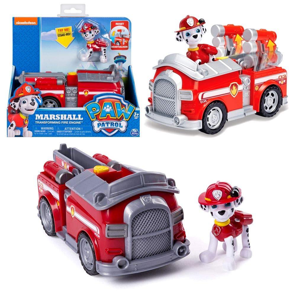 Paw Patrol - Fahrzeuge mit beweglichen Spielfiguren zur Auswahl, Figur:Chase Spin Master