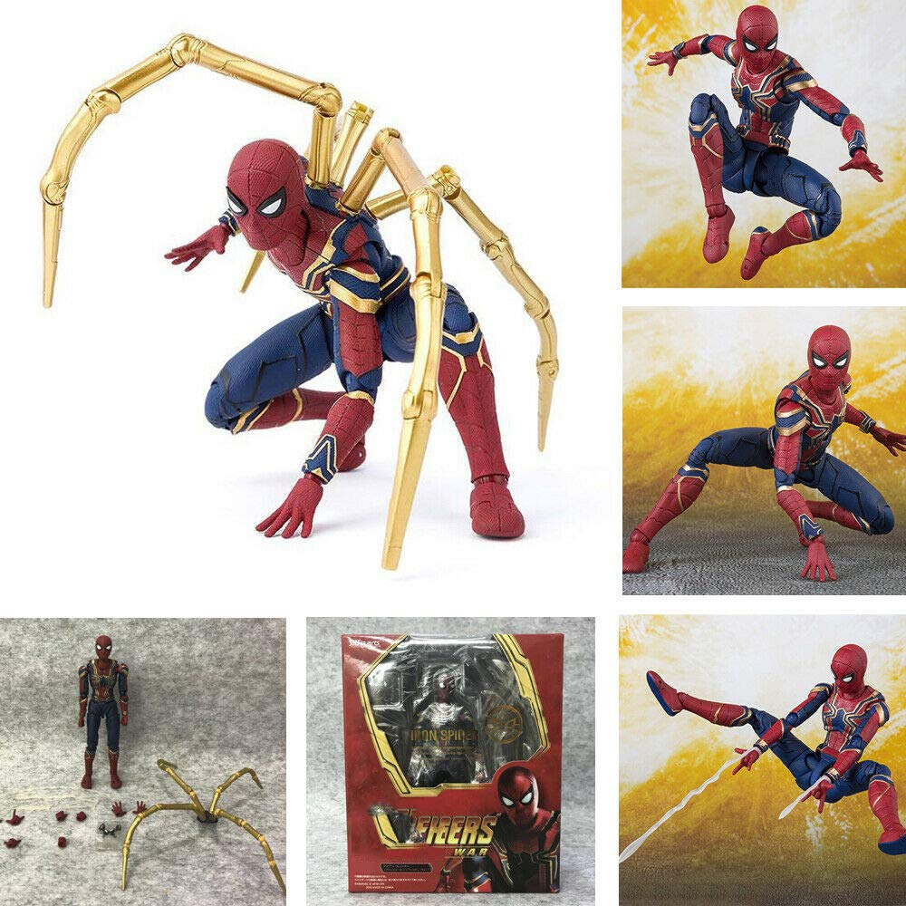 GOODKSSOP Joint Flexible Movable Infinity War Super Hero Classic Character Spider-Man:Homecoming Action Figure Model Toy Xmas Gift