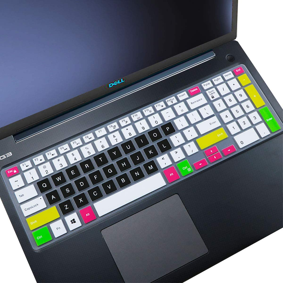 Keyboard Cover fit Dell Inspiron 15 3000 5000 Series/New Inspiron 17 3000 Series/Insprion 17 7786 /Dell G3 15 17 Series/New Dell G5 15 Series/Dell G7 15 17 Series– Candy Black