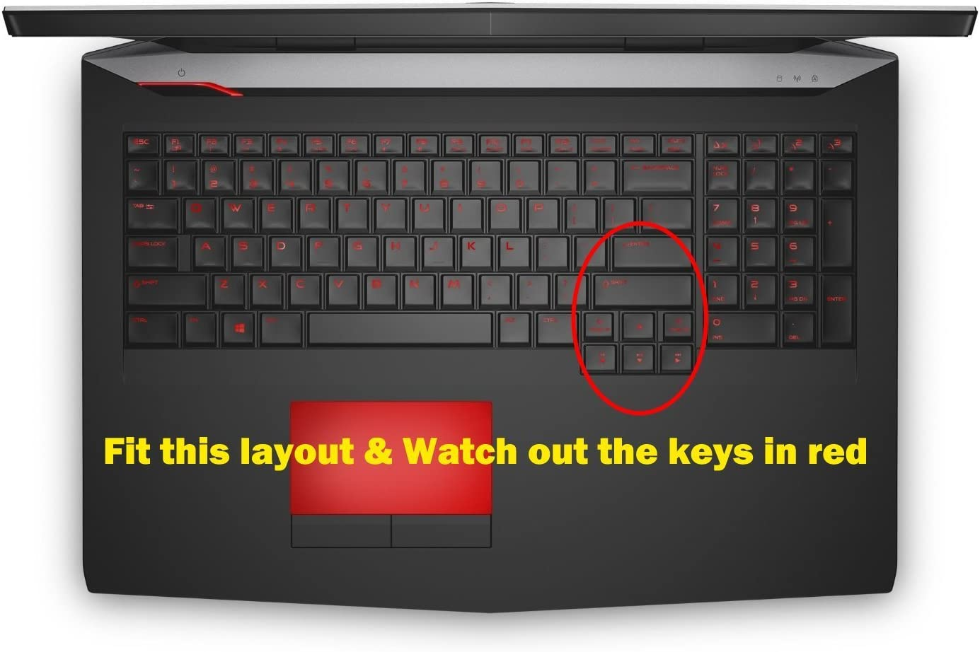 Bank ID Card Gaming Laptop 2013 version with BingoBuy Card Case for Credit BingoBuy Semi-White Soft Ultra thin Silicone Keyboard Protector Skin Cover for Dell Alienware 17 R1 if your enter key looks like 7, our skin cant fit