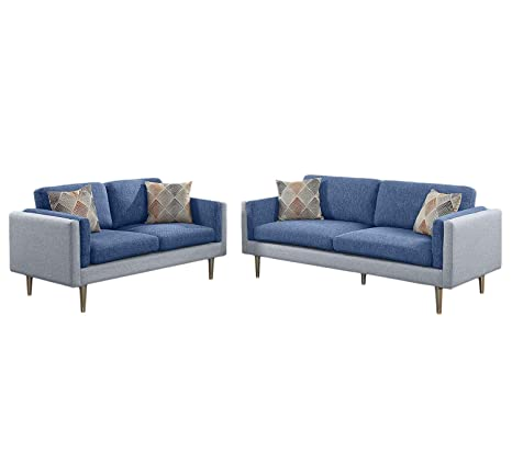 Amazon.com: poundex f6555 bobkona Alwin sofá y Loveseat ...