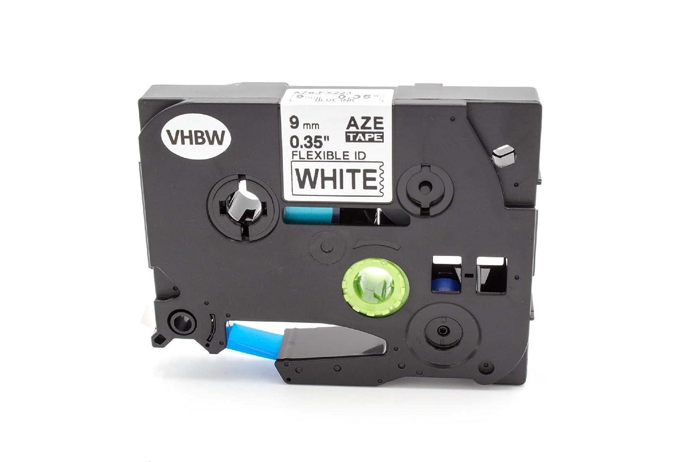 Replacement Brother P-Touch M Ruban M-K221 9mm x 8m Noir sur Blanc Ruban /Étiqueteuses Cartouches pour Brother P-Touch Etiquette Imprimantes Lot de 5