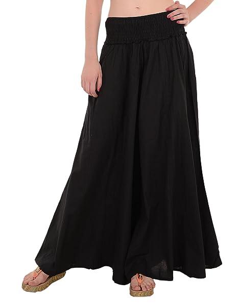 22fb061cf1e SNS Pure Cotton Long Palazzo Pants women Trouser Black at Amazon ...