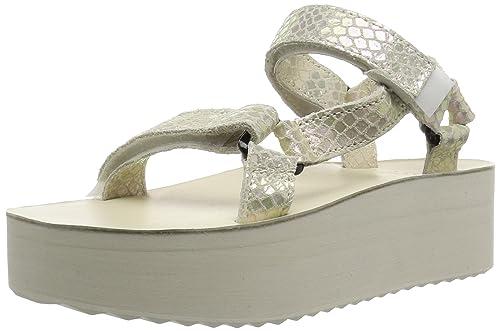 3dd3ac2d644 Teva Women s Flatform Universal Iridescent Sandal