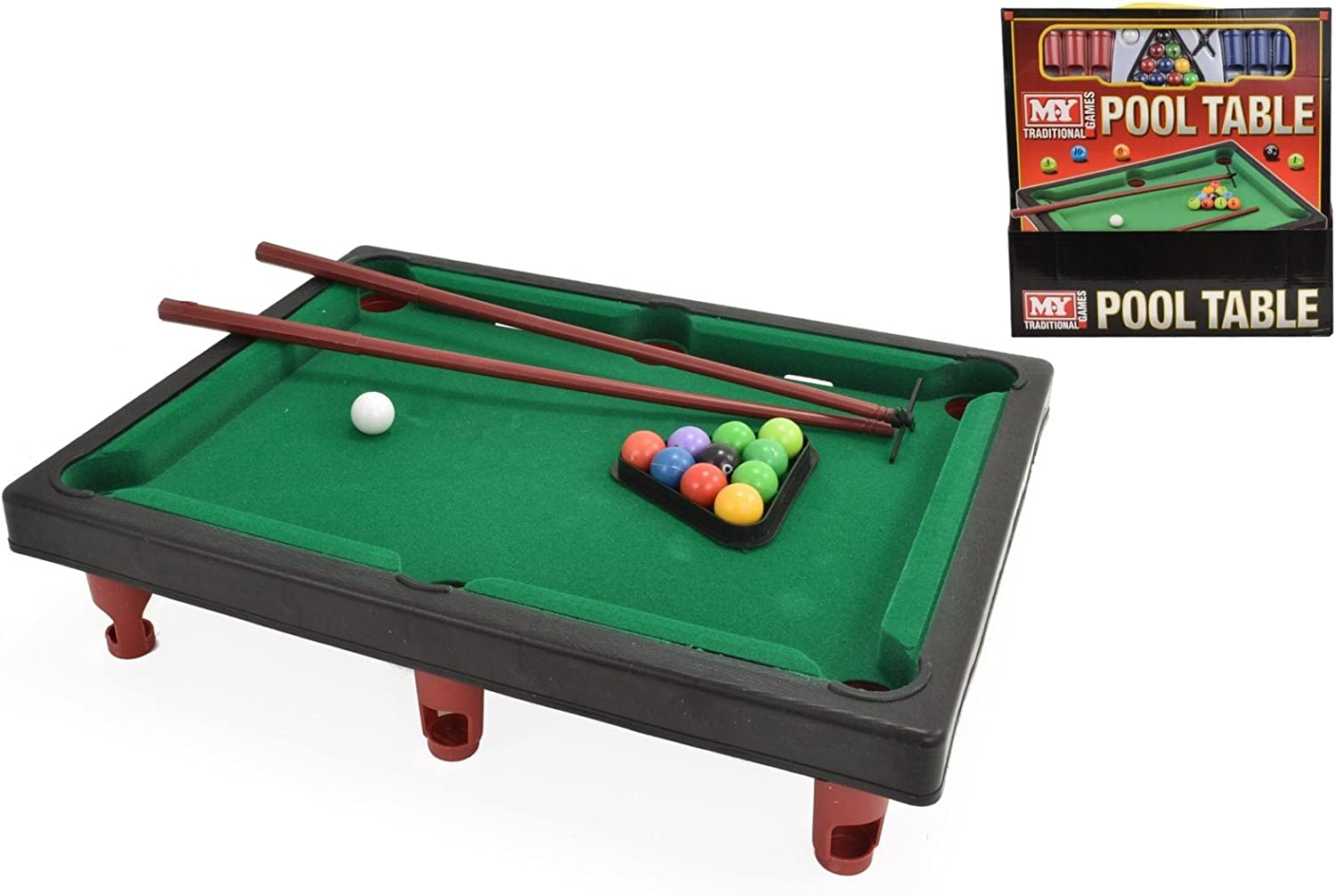 NEW MY MINI TABLETOP POOL SNOOKER TABLE GAME SET TOY CHILDRENS ...