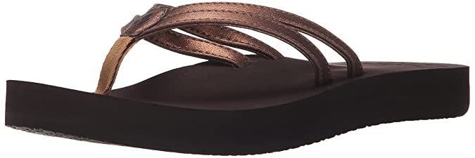 5d564cad90 Amazon.com | Reef Women's Cushion Twin Flip Flop | Flip-Flops