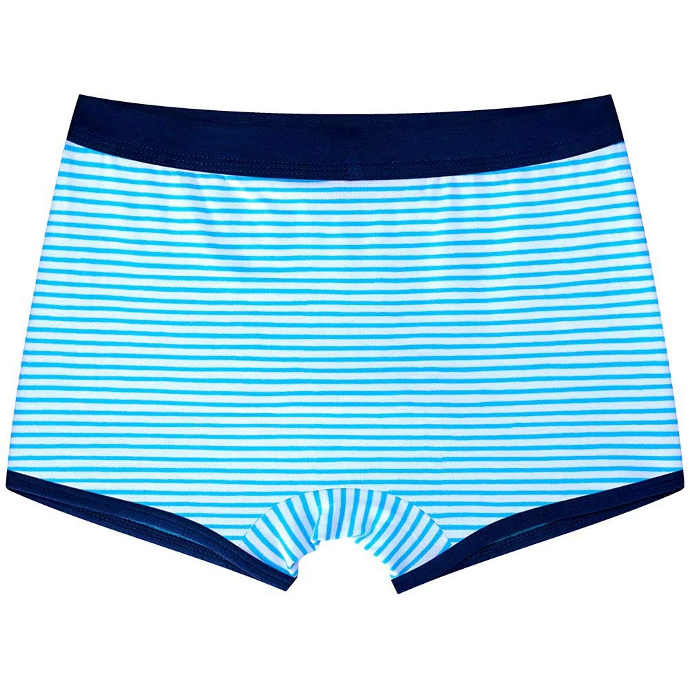 Wxian Boys Striped Soft Comfortable Boxer Briefs 4 Pack