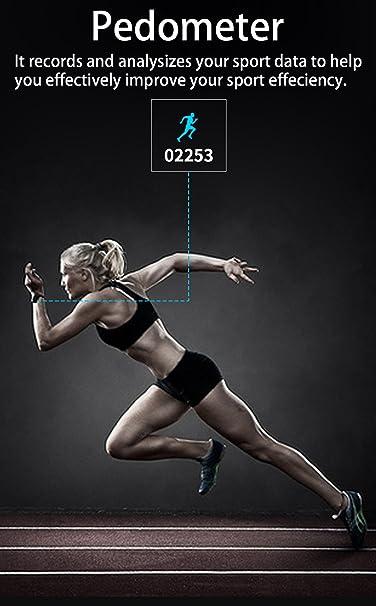 iRapid pulso sangre oxígeno presión Monitor reloj pulsera deportivo inteligente reloj IP67 impermeable pulsera de Bluetooth para los teléfonos inteligentes ...