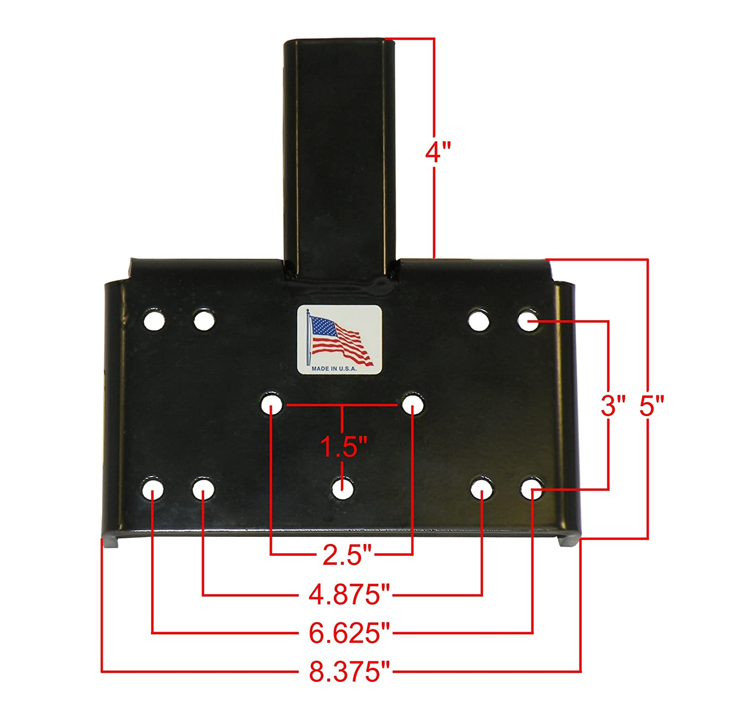 Amazon.com: ATV/UTV Winch Mounting Plate For 2 Inch Receivers - Made In  U.S.A.: Automotive