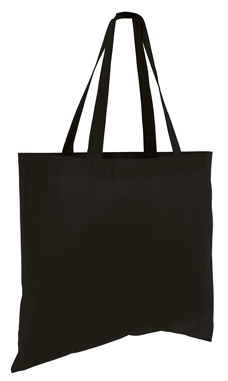 ( 50パック)のセット50安い予算Promotional Large Toteバッグ ブラック 14137732 B011PJ3KMY ブラック ブラック