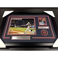 Signed David Ortiz Photo - 500TH HOMERUN CARD 8X10 Framed #2 - Autographed MLB Photos photo