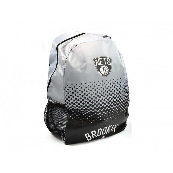 Brooklyn Nets Official NBA - Mochila efecto degradado (Talla Única/Blanco/Negro)