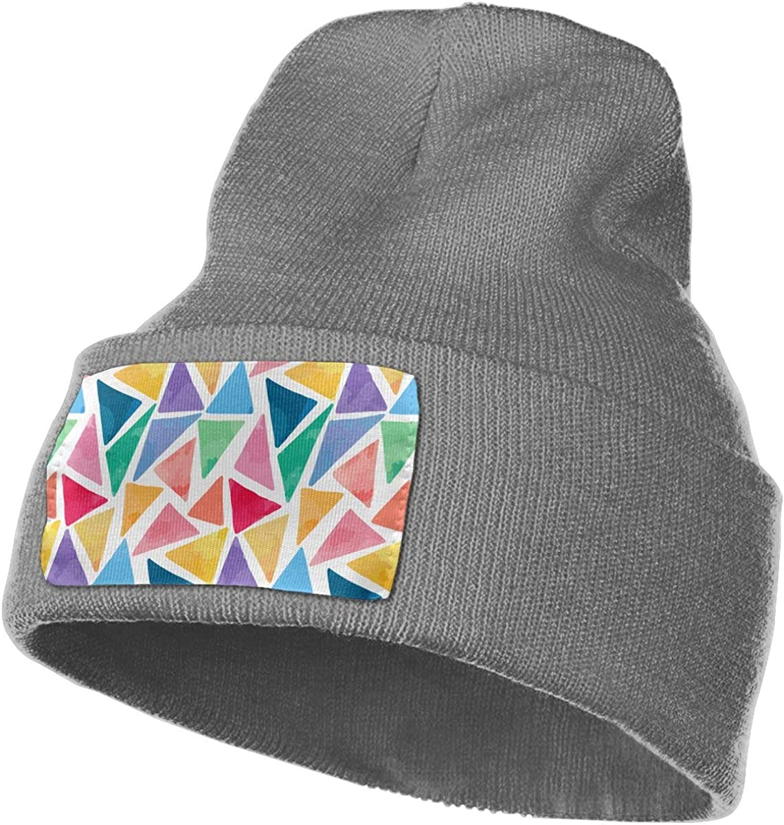 TAOMAP89 Watercolor Triangles Men /& Women Skull Caps Winter Warm Stretchy Knit Beanie Hats