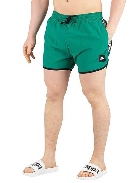 8057b7eb94b9 Kappa Uomo Pantaloncini da Bagno Autentici Agius, Verde: Amazon.it:  Abbigliamento