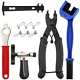 Bike Chain Tool Kit, Bicycle Chain Tool with Bike Link Plier, Bicycle Chain Breaker Splitter, Chain Wear Indicator and Chain
