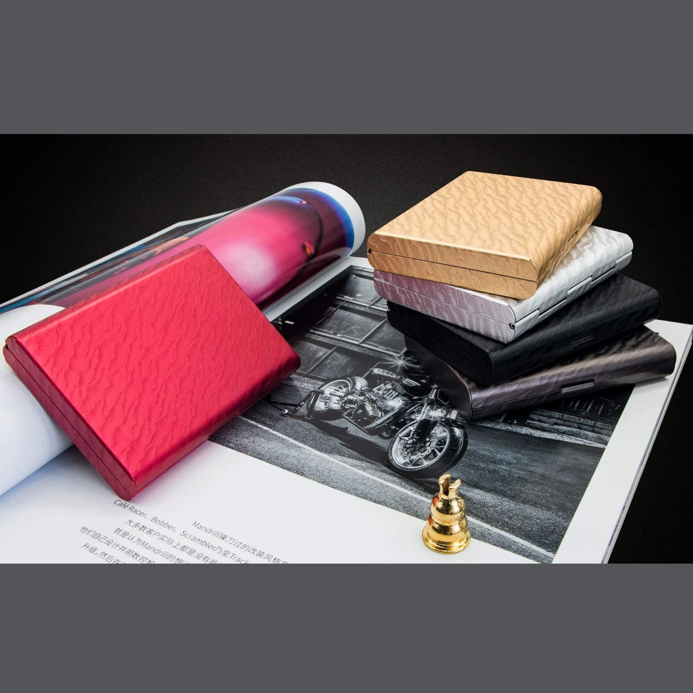 RFID Credit Card Holder Protector Aluminum Alloy Credit Card Wallet RFID Metal Credit Card Case for Women or Men Gray