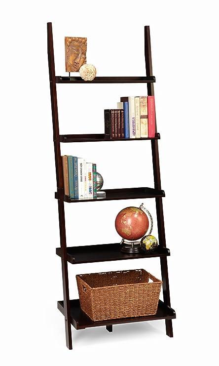 df4887712b Amazon.com: Convenience Concepts American Heritage Bookshelf Ladder,  Espresso: Kitchen & Dining