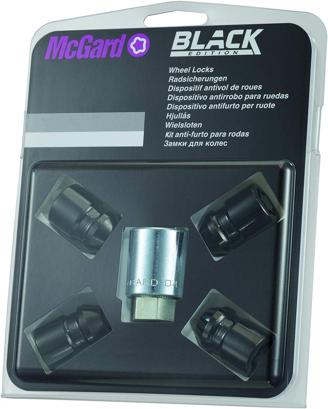 Ouverture 17 mm McGard 27112 Antivol SUB Diam/ètre de la Cl/é 25,8 mm Tige 36,3 mm Noir M12X1.5 Embase Conique Longueur Totale du Boulon 61,0 mm