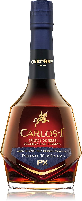 Brandy de Jerez Solera Gran Reserva Carlos I Pedro Ximénez - 1 botella de 70 cl