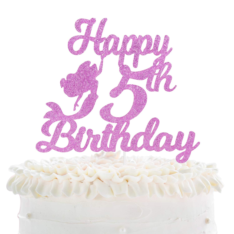 Scribbles Happy 5th Birthday Mermaid Laura Darrington Design