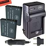 Pack of 2 EN-EL19 Batteries & Battery Charger Kit for Nikon Coolpix S32 S100 S3100 S3200 S3300 S3500 S3600 S4100 S4200 S4300 S5200 S5300 S6400 S6500 S6800 Digital Camera + More!!