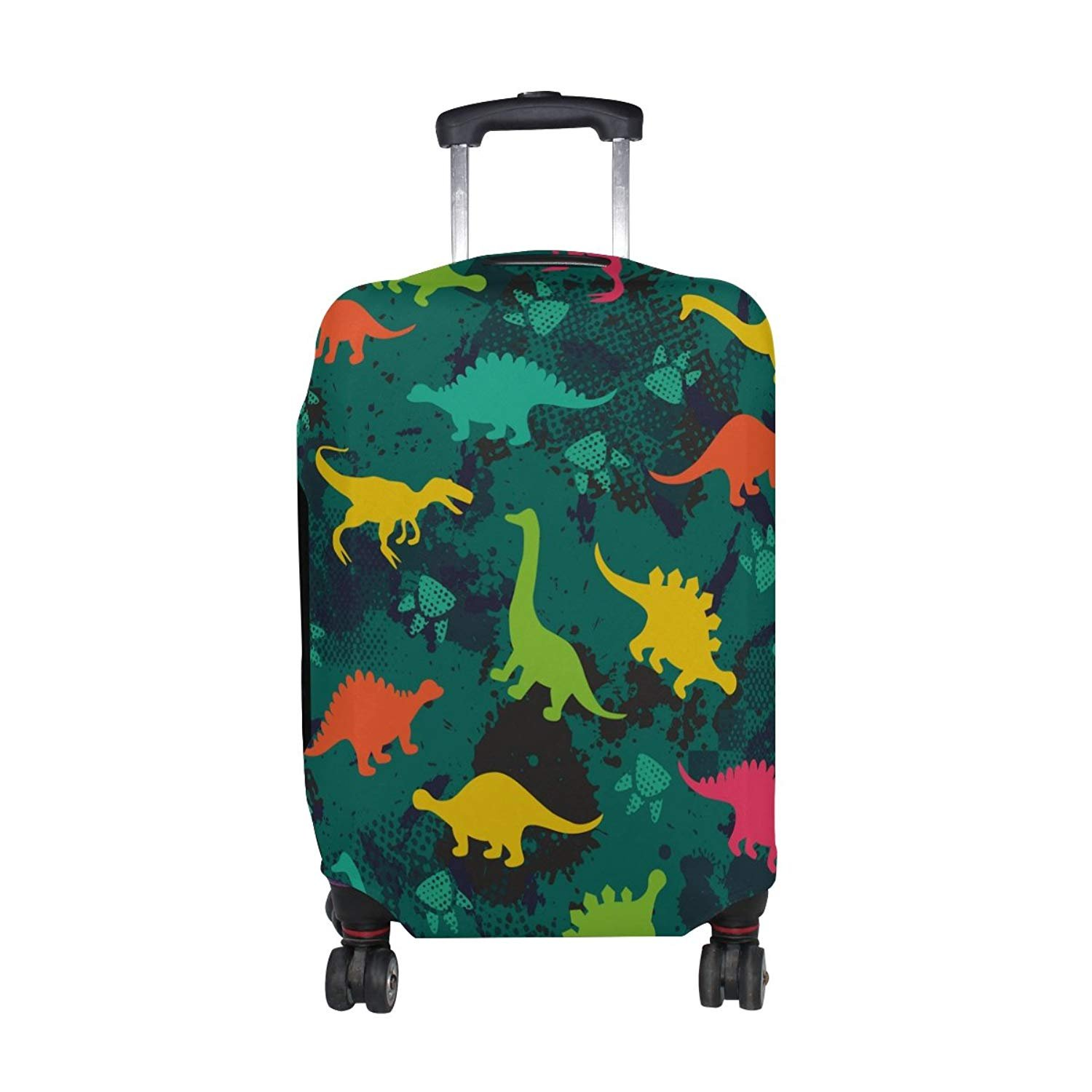 Cute Cartoon Dinosaur Pattern Print Luggage Cover Travel Suitcase Protector Fits 18-21 Inch Luggage