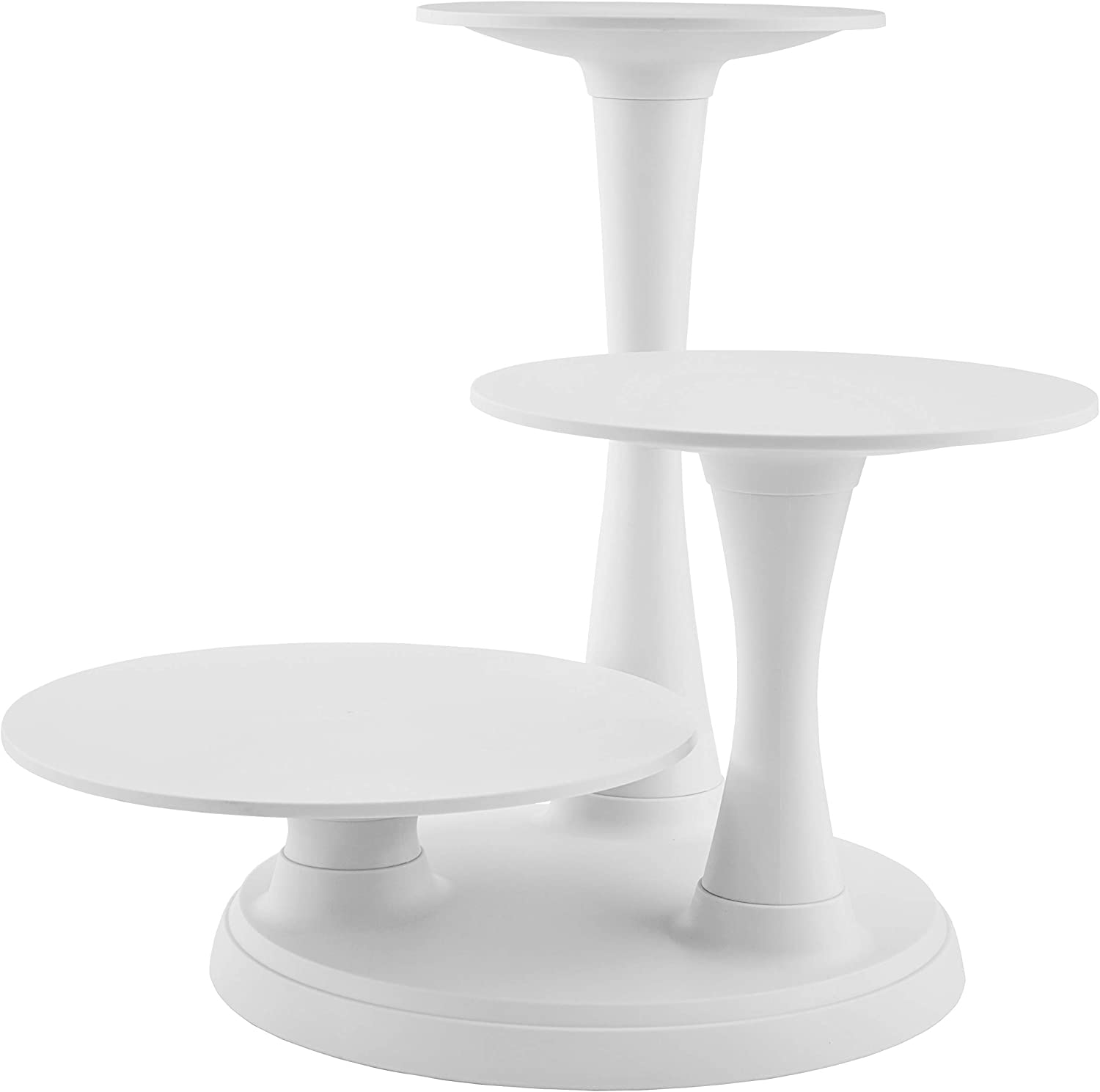 Amazon Com Wilton Pillar Style 3 Tier Cupcake Dessert And Cake Stand Decorating Tools Cake Stands