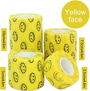 1 Roll 16 Colors Flexible Self Adherent Cohesive Pet Cat Bandage Medical Elastic Dog Bandage Vet Tape Wraps 4 Sizes Waterproof