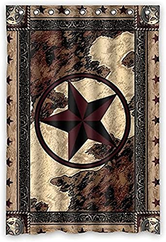 Cheap Crazy Pie Custom Western TES Star Polyester Fabric Window Curtain 50″X84″ One Piece Panels window curtain panel for sale